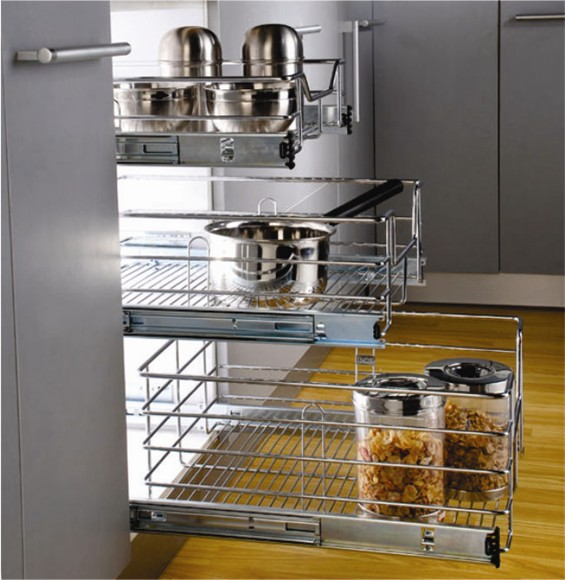 Optimise Kitchen Storage With The Right Channel And Basket Style Sulekha Home Talk