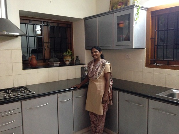 Kitchen star subhashini komeswaran s 9 x 11 open kitchen for Modern kitchen design tamilnadu