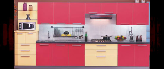 L shaped modular kitchen designs catalogue images for Straight kitchen designs