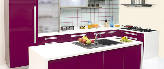 Photos  Kitchen With Purple Color Kitchen With Purple Color Kitchen