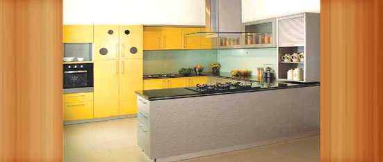 yellow-u-shaped-glass-kitchen